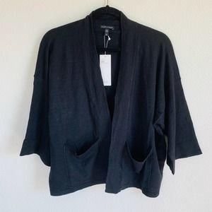 Eileen Fisher Cardigan S Black Short Organic